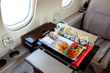 Catering charter flights